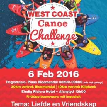 West Coast Canoe Challenge – Berg River – Saturday, 6 February