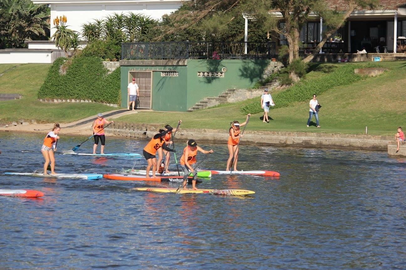 starboard zinkwazi 10km sup race race start